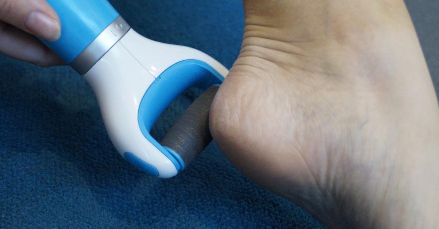 Hornhaut entfernen elektrisch mit Scholl