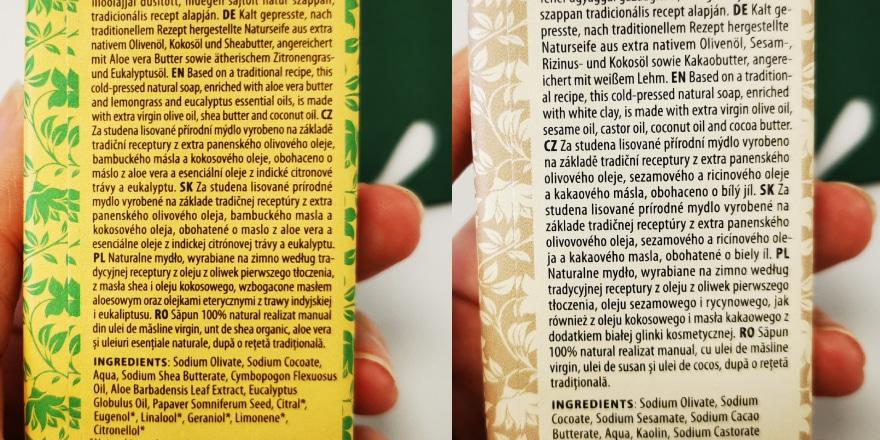 Manna Naturkosmetik - Mannaseife Inhaltsstoffe
